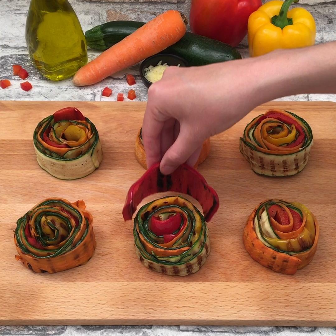 Tartes aux légumes grillés